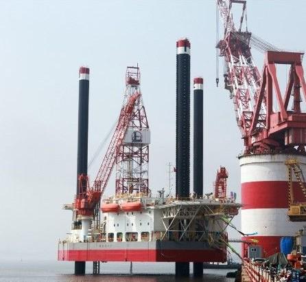 """2014-06-06 中海油服""""海洋石油944""""开工建造 2014-06-05 天津新港首次"""